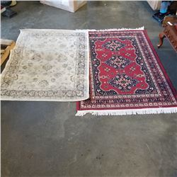 2 SMALL AREA CARPETS APPROX 4FT