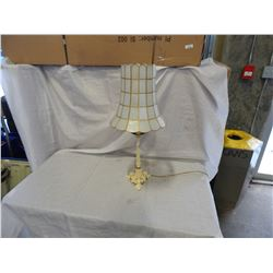 LAMP W/ SHELL SHADE