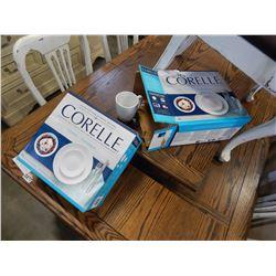 2 BOXED CORELLE 16PC DISH SETS