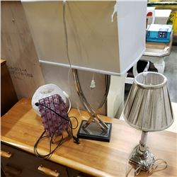 4 TABLE LAMPS