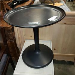 BLACK SWIVEL SIDE TABLE
