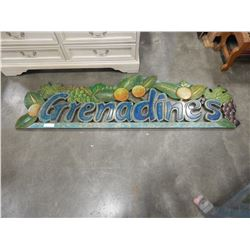 6FT CARVED HAND PAINTED WALL HANGING