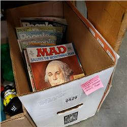 MAGAZINES OF THE 1970s, MAD, CRACKED, CRAZY AND PEOPLE, OVER 30 MAGAZINES