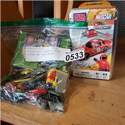 NASCAR DALE EARNHARDT MEGA BLOCKS AND LEGO RACERS