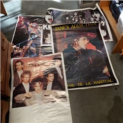 2 KISS POSTERS, JANES ADDICTION AND THE CURE POSTER
