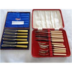 VINTAGE SILVER PLATED SHEFFIELD CUTLERY SETS