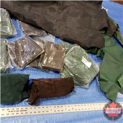BOX LOT: Variety of Green & Brown (2.5 oz) Leather & Suede