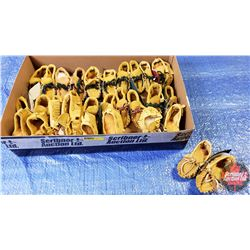 Tray Lot: Baby's First Moccasins (Tan) (15 Pairs)