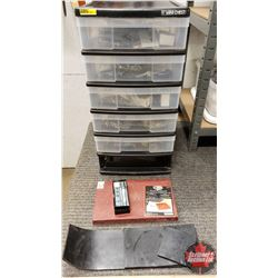 Organizer Lot w/Contents: Jewelled Rivets, Setter & Boards