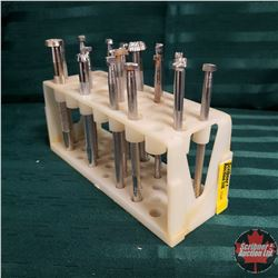 Leather Stamping Tools in Plastic Holder : 18