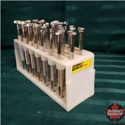 Leather Stamping Tools in Plastic Holder : 34