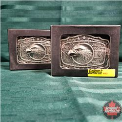 Pewter Trophy Buckle Eaglehead (2)