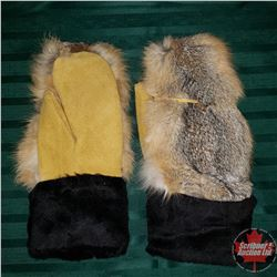 Artisan Handmade Leather Mitts (Kit Fox)