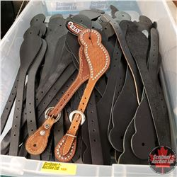 Tote Lot: 74 Pairs of Spur Straps