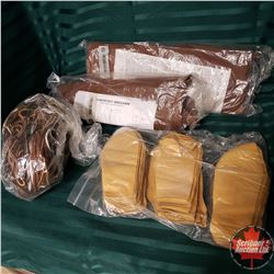 Tray Lot: Moccasin Craft Kits (2) Blackfoot & Iroquois ; Leather Soles ; Leather String