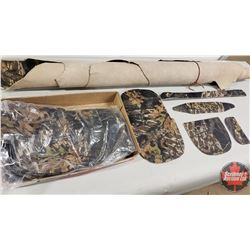 Tray Lot: 6 Camo Purse Templates with Roll of Camo Leather