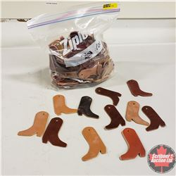 Leather Cowboy Boot Keychains (100)