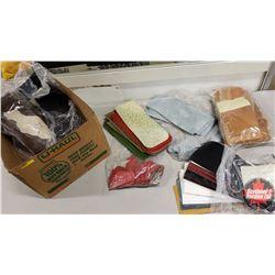 BOX LOT: Purse Kits (7 Bags) Variety Sizes/Patterns (Enough Sets to make approx 96 Purses)