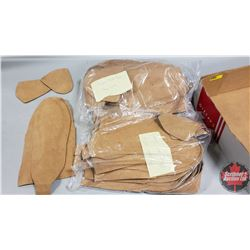 Tray Lot: Hide in Hand Moccasin Templates (4 Pairs Large & 3 Pairs Smaller)