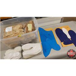 Tote Lot: Hide in Hand Slipper & Moccasins Patterns (12 Pairs Hide in Hand Moccasin Templates)