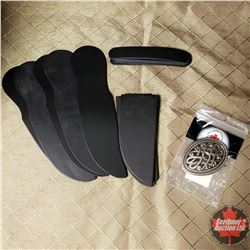 CHOICE OF 29 PACKAGES : Belt Buckle with 5pk Leather Knife Sheath Templates