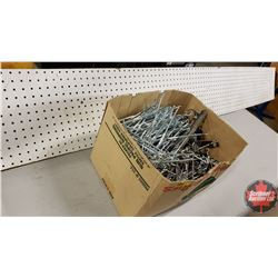 Box Lot: Peg Board Hangers & 1'x8' Peg Board Piece