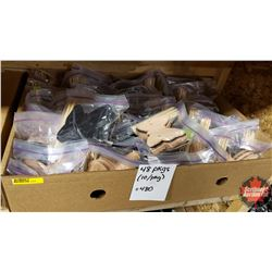 Tray Lot: 48pkgs of Leather Hair Butterfly Accessories (10/pkg)