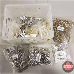 White Plastic Basket/Tote - Fasteners/Hardware: Welded Dee, Chicago Screws, Buckles, Eye Springs
