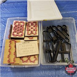 Tote Lots (2): 1 with Variety of Die Cutters (11) & 1 with Variety of Die Cutters on Boards