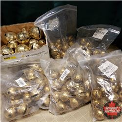 Large Group of Sleigh Bells (Variety Sizes) Brass