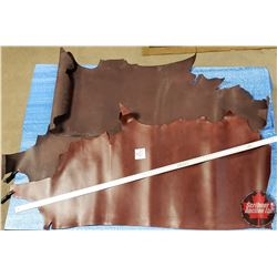 LEATHER BUNDLE #15: Chocolate & Chestnut (3 Sides) 8 - 10 oz