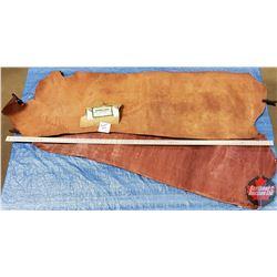 "LEATHER BUNDLE #3: Chestnut (2 Pieces) 14 - 16 oz ""Hermann Oak Leather"""