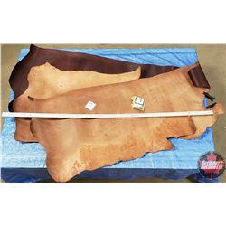"LEATHER BUNDLE #2: Burgundy (3 Sides) 9 - 11 oz ""Hermann Oak Leather"""