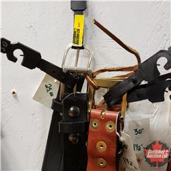 """Leather Belt Group of 5: 30"""""""