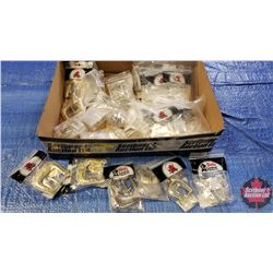 Tray Lot: Tandy Leather Factory Buckle Sets (29 Sets) + 2 Extra Pieces (Variety Sizes & Styles)