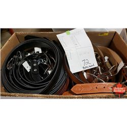 """BULK LOT - BELTS (72) : Variety Patterns/Colors (Sizes Range from 26"""" to 48"""")"""