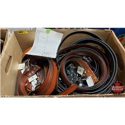 """BULK LOT - BELTS (65) : Variety Patterns/Colors (Sizes Range from 26"""" to 46"""")"""
