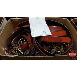 """BULK LOT - BELTS (73) : Variety Patterns/Colors (Sizes Range from 28"""" to 46"""")"""