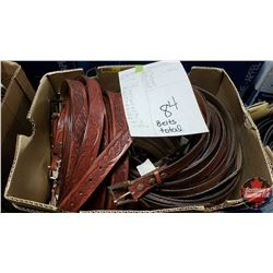 """BULK LOT - BELTS (84) : Variety Patterns/Colors (Sizes Range from 28"""" to 46"""")"""