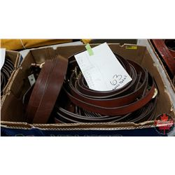 """BULK LOT - BELTS (63) : Variety Patterns/Colors (Sizes Range from 28"""" to 54"""")"""