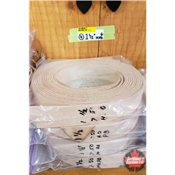 "BULK LOT - BELTING (4 Bags): 1-1/2"" (All Lengths 50""+) (5 Per Bag)"