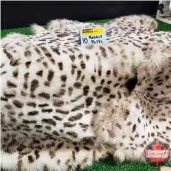 Exotic Spotted Rabbit Skin Pelts (10)