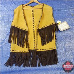 CHOICE OF 16 Long Leather Tasseled Vests : Size Medium