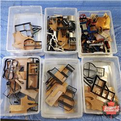 Tote Lots (6): Large Variety of Die Cutters (Holsters, etc) & Embossing Plates & Ammo Clip Drones &