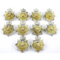 Lot (10) Queens Crown RCASC Corp Badges