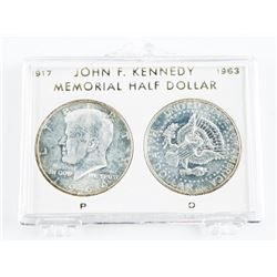 Lot (2) USA Silver Kennedy .900 Fine Half Dollars