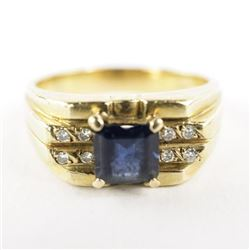 Estate Gents/14kt Gold Ring Size 9.5 Channel Set D
