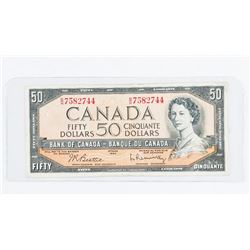 Bank of Canada 1954 50.00 Modified Portrait. B/R