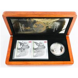 The Great Grizzly .9999 Fine Silver $8.00 Coin and Stamp Set
