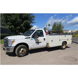 2014 Ford F350 Service Truck w/Compressor & Hose (Nothing Else) (Run/Drives See Video)